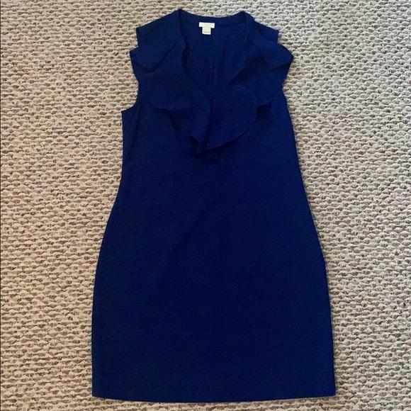 J. Crew Factory Dresses & Skirts - Jcrew Factory Crepe ruffle-neck dress